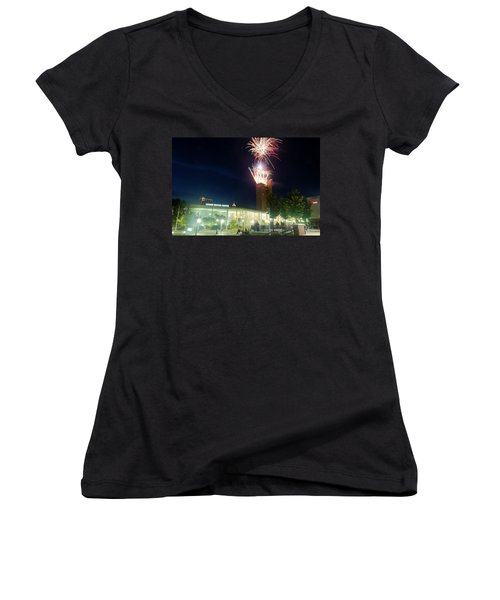 2017 Three Rivers Festival Aep Fireworks Women's V-Neck T-Shirt