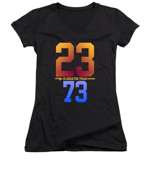 2373-2 Women's V-Neck T-Shirt (Junior Cut) by Augen Baratbate