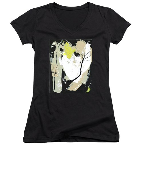 Three Color Palette Women's V-Neck T-Shirt (Junior Cut) by Michal Mitak Mahgerefteh