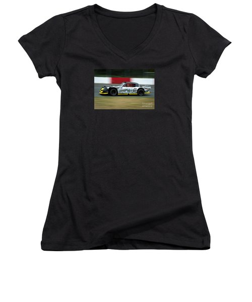 29 Enter The First Turn Women's V-Neck T-Shirt