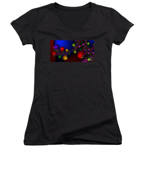 2x1 Abstract 330 Women's V-Neck