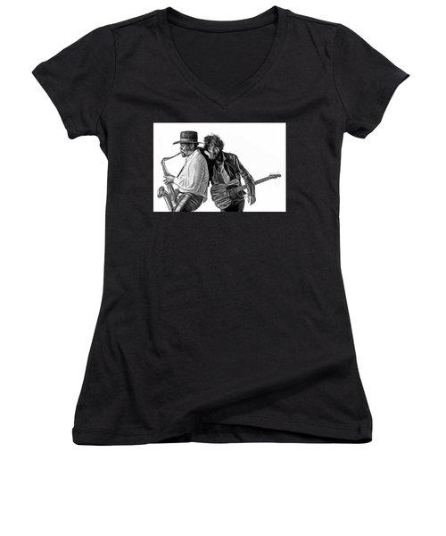 Bruce Springsteen Clarence Clemons Collection Women's V-Neck T-Shirt