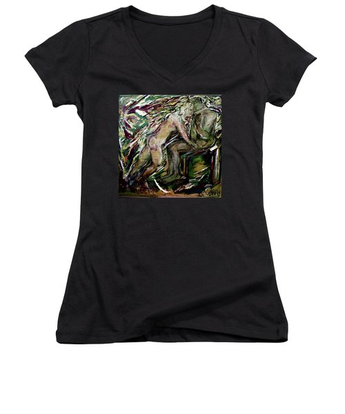 Cigar Interlude Women's V-Neck (Athletic Fit)