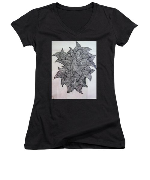 3 D Sketch Women's V-Neck T-Shirt (Junior Cut) by Barbara Yearty