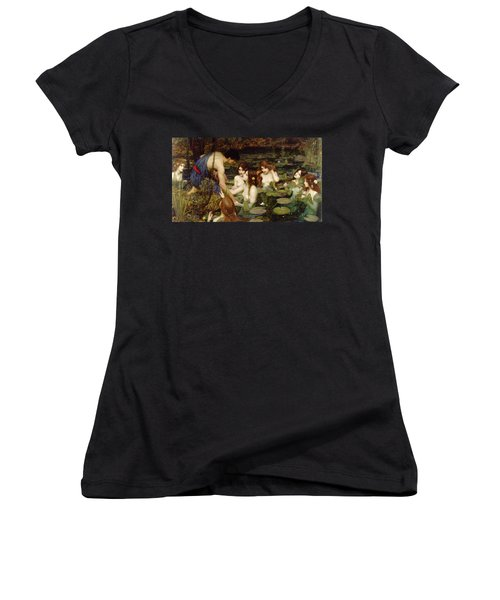 Hylas And The Nymphs Women's V-Neck (Athletic Fit)
