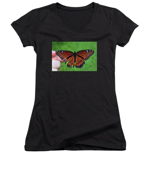 Viceroy Butterfly Women's V-Neck (Athletic Fit)