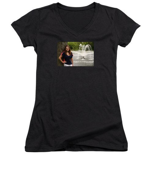 3445 Women's V-Neck (Athletic Fit)