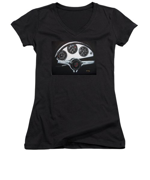 356 Porsche Dash Women's V-Neck