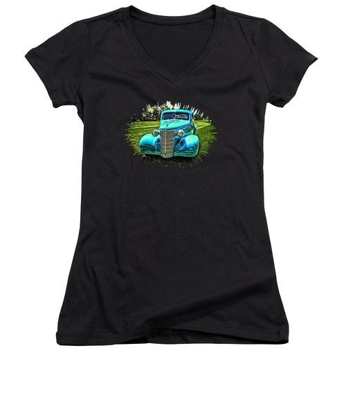 38 Chevy Coupe Women's V-Neck