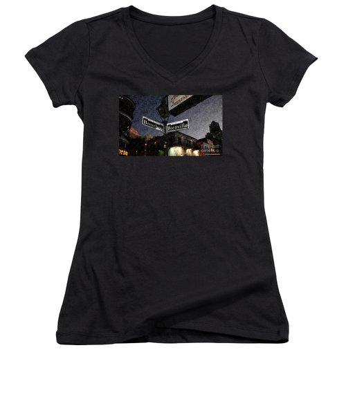 Bourbon Street Women's V-Neck T-Shirt
