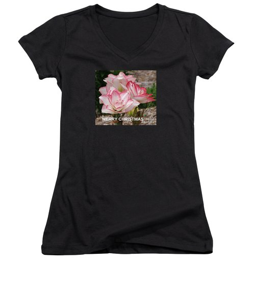 Christmas Card Women's V-Neck T-Shirt