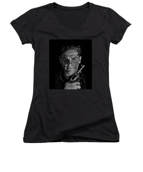 James Cagney - A Study Women's V-Neck (Athletic Fit)