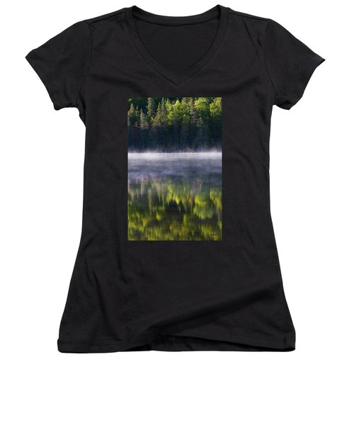 Summer Morning Women's V-Neck T-Shirt (Junior Cut) by Mircea Costina Photography