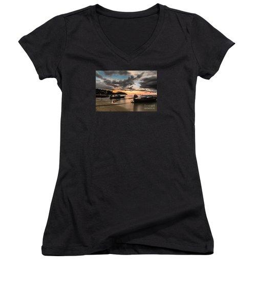 Sunset Over Koh Lipe Women's V-Neck T-Shirt