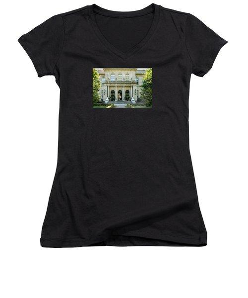 The Rosecliff Women's V-Neck T-Shirt (Junior Cut) by Sabine Edrissi