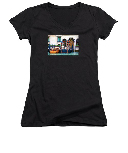 Venice Untitled Women's V-Neck T-Shirt (Junior Cut) by Brian Davis