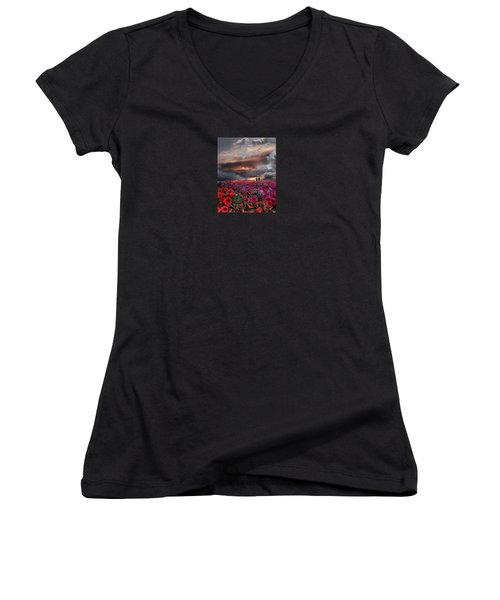 4087 Women's V-Neck T-Shirt