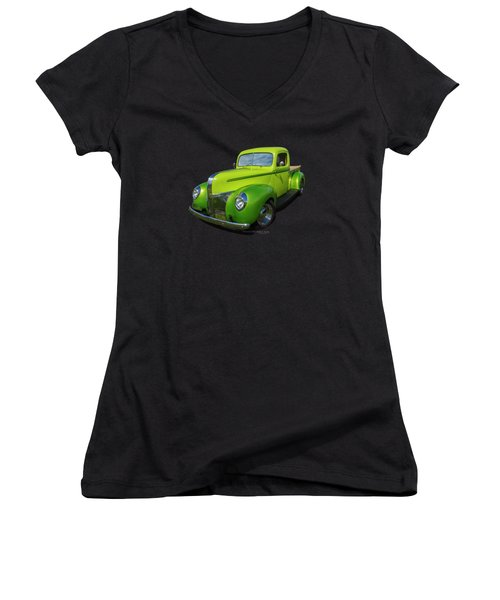 40s Ford Pickup Women's V-Neck (Athletic Fit)