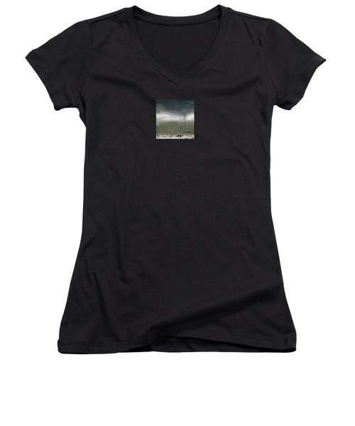Women's V-Neck T-Shirt (Junior Cut) featuring the photograph 4375 by Peter Holme III