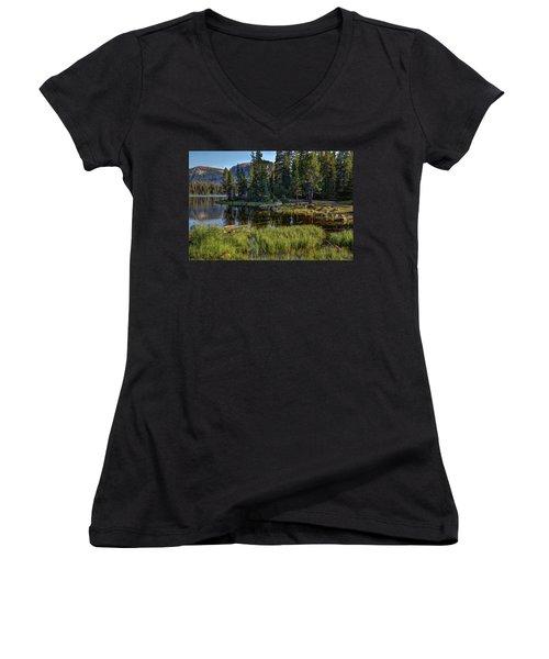 Uinta Mountains, Utah Women's V-Neck T-Shirt (Junior Cut) by Utah Images