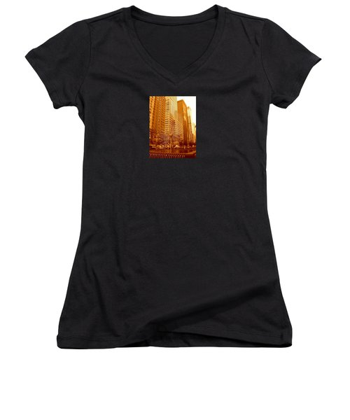 6th Avenue In Mahattan Women's V-Neck (Athletic Fit)