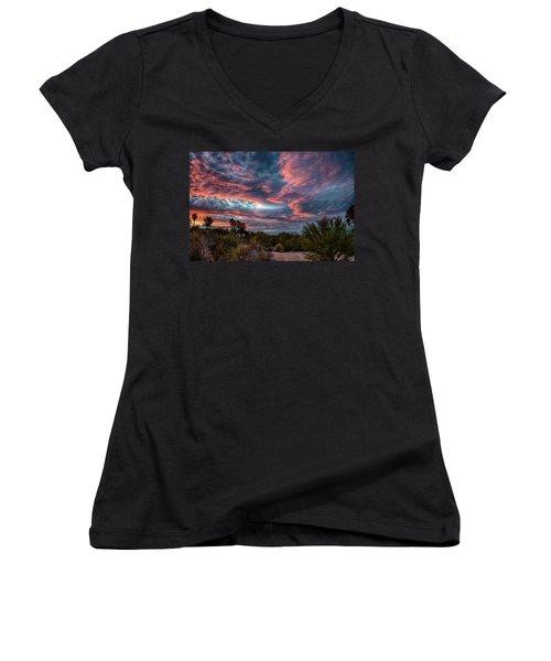 Arizona Sunset Women's V-Neck (Athletic Fit)
