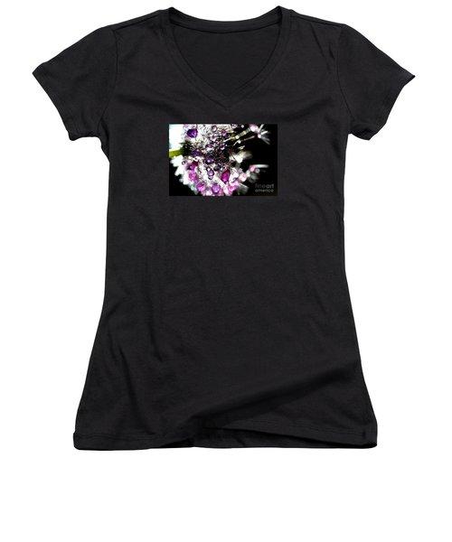 Crystal Flower Women's V-Neck T-Shirt