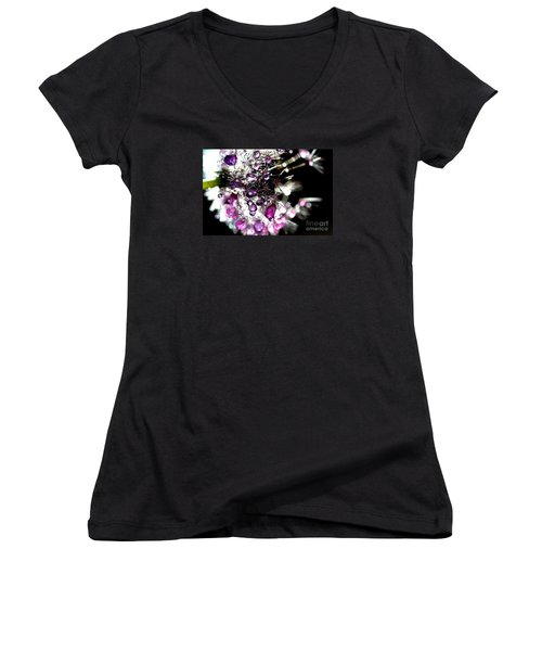 Crystal Flower Women's V-Neck (Athletic Fit)