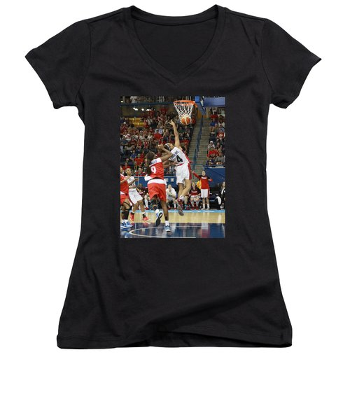 Pam Am Games Womens' Basketball Women's V-Neck (Athletic Fit)