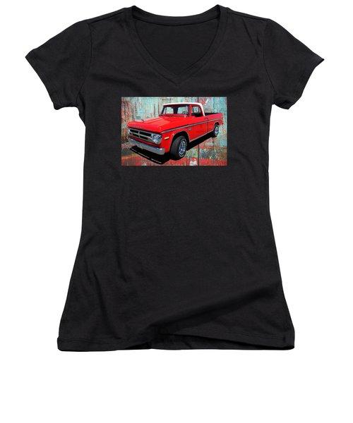 '70 Dodge Truck Women's V-Neck T-Shirt