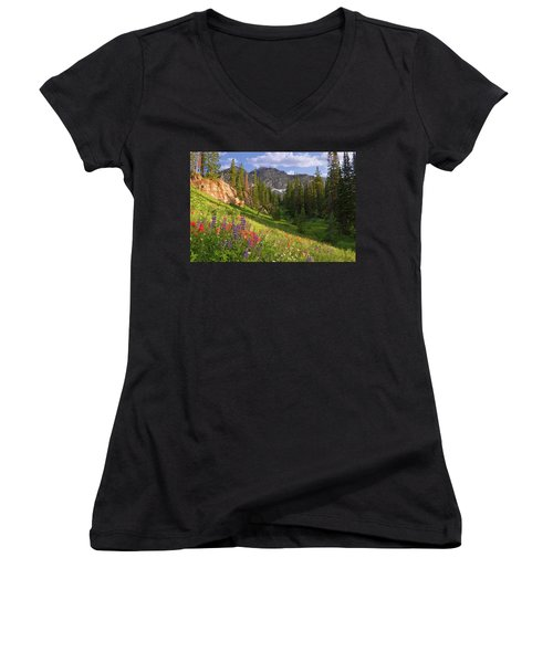 Albion Basin Wildflowers Women's V-Neck