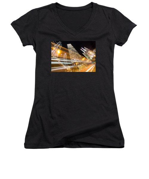 Hong Kong Night Rush Women's V-Neck T-Shirt