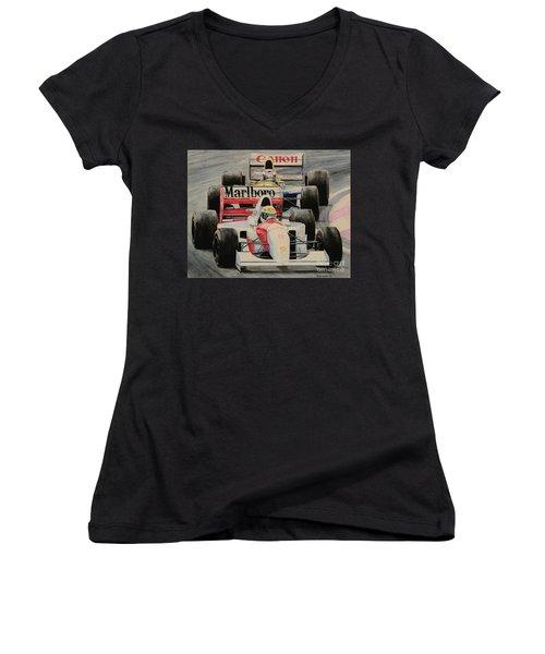 8  Women's V-Neck T-Shirt