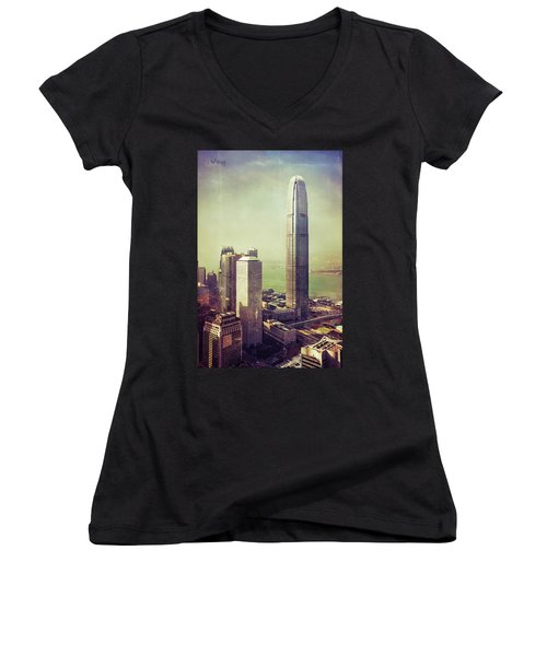 88 Floors Women's V-Neck T-Shirt (Junior Cut) by Joseph Westrupp