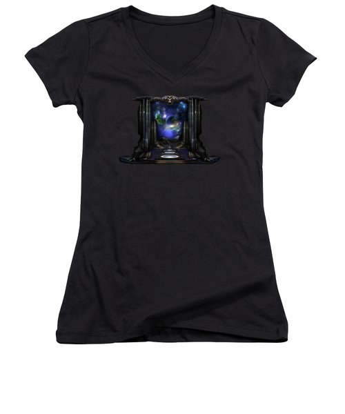 89-123-a9p2 Arsairian 7 Reporting Fractal Composition Women's V-Neck (Athletic Fit)