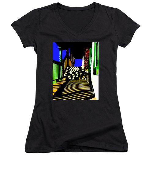 Streets Of Taos Women's V-Neck (Athletic Fit)