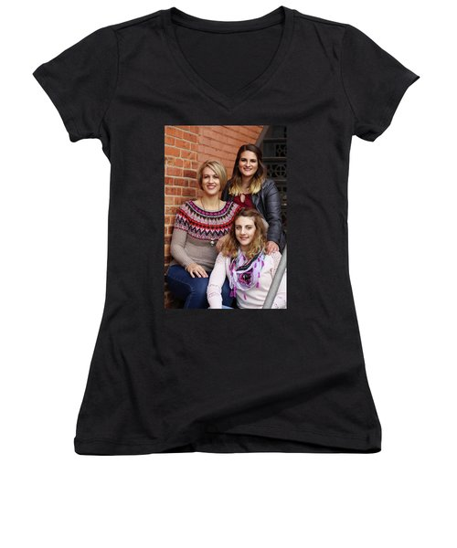 9g5a9416_e_pp Women's V-Neck T-Shirt (Junior Cut) by Sylvia Thornton