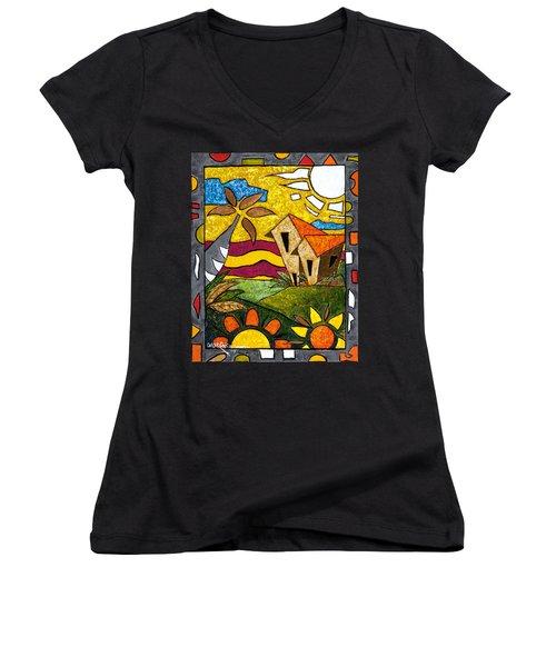 A Beautiful Day Women's V-Neck T-Shirt (Junior Cut)