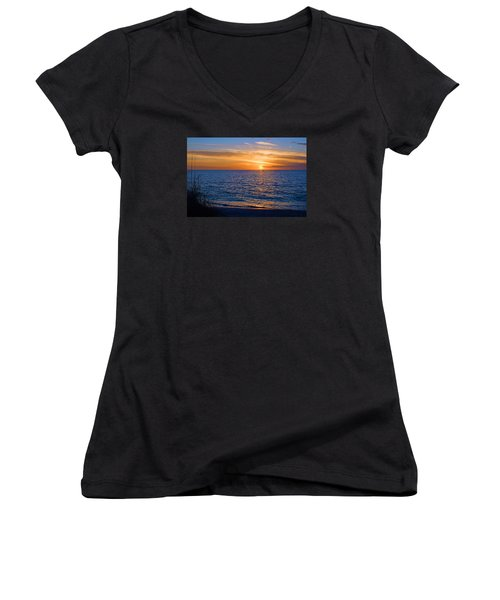 A Beautiful Sunset In Naples, Fl Women's V-Neck