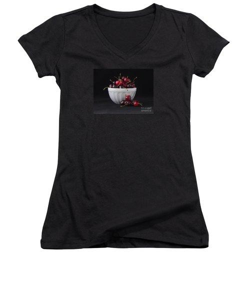 A Bowl Full Of Cherries Women's V-Neck (Athletic Fit)
