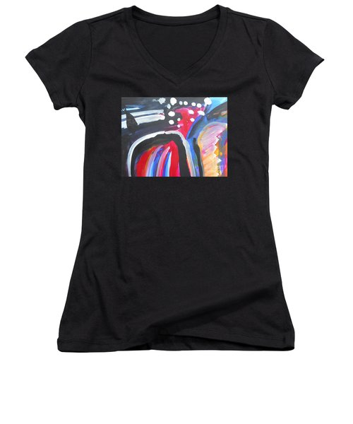A Colorful Path Women's V-Neck