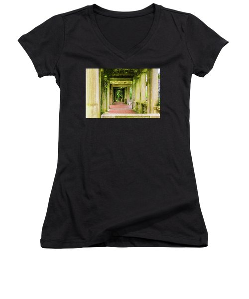 A Garden House Entryway. Women's V-Neck (Athletic Fit)