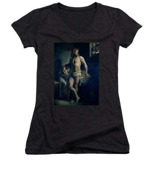 A Gaul And His Daughter Imprisoned In Rome Women's V-Neck (Athletic Fit)
