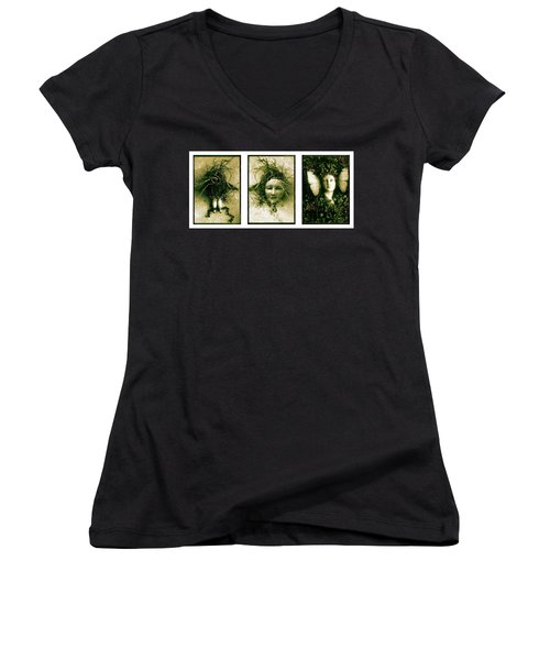 A Graft In Winter Triptych Women's V-Neck
