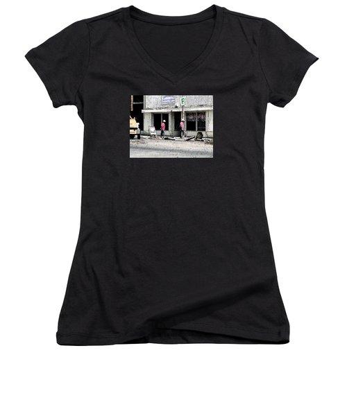 A Hard Day's Work Women's V-Neck T-Shirt (Junior Cut)