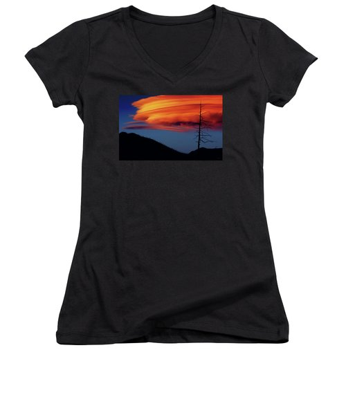 A Haunting Sunset Women's V-Neck (Athletic Fit)
