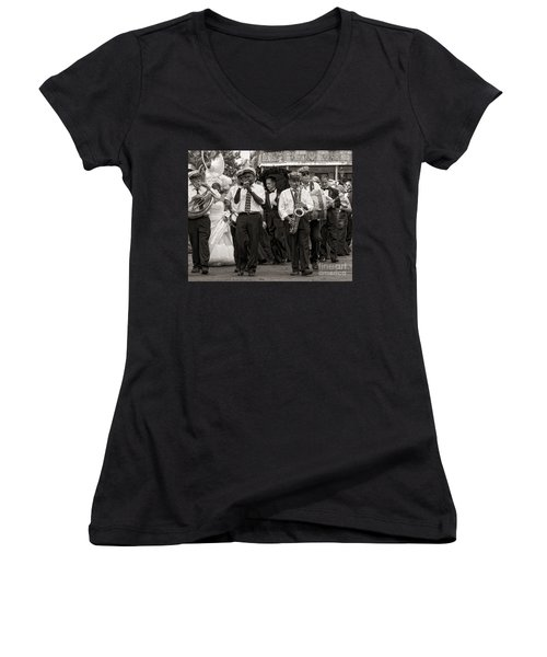 A Jazz Wedding In New Orleans Women's V-Neck (Athletic Fit)