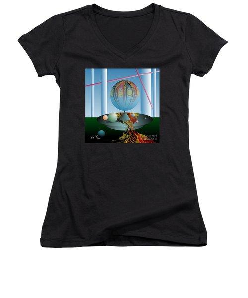 A Kind Of Magic Women's V-Neck T-Shirt (Junior Cut) by Leo Symon