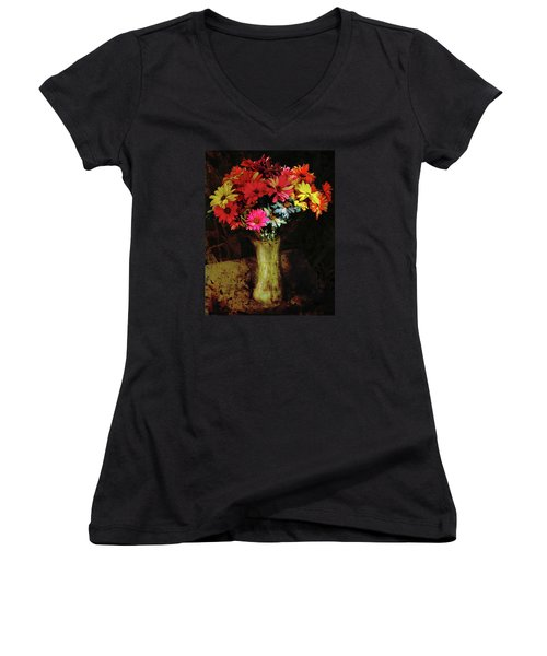 A Light Shines Into The Darkness Of My Soul 2 Women's V-Neck T-Shirt