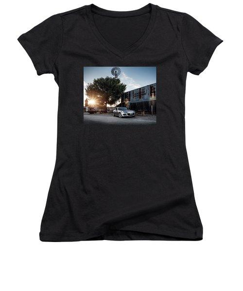Little Drop Of Sunshine Women's V-Neck T-Shirt (Junior Cut) by Douglas Pittman